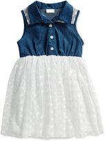 Sweet Heart Rose Denim and Lace Shirt Dress, Toddler & Little Girls (2T-6X)