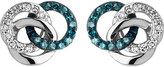 Links of London Treasured silver and diamond stud earrings