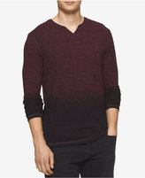 Calvin Klein Jeans Men's Fading Slit-Neck Sweater