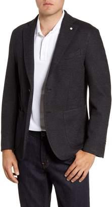 Lubiam Trim Fit Jersey Knit Cotton Blend Sport Coat