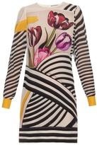 Mary Katrantzou Christie Tulip Stripe-print silk-chiffon dress
