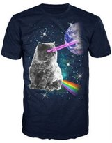 Bioworld Laser Eyes Space Cat T-Shirt