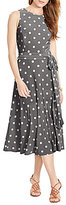 Lauren Ralph Lauren Polka-Dot Midi Dress