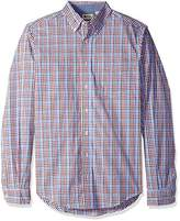 Haggar Men's Big and Tall Long Sleeve Poplin Shirt With Stretch