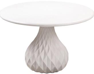 TOV Furniture Tulum Ivory Concrete Dining Table