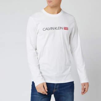 Calvin Klein Men's Long Sleeve Logo Top