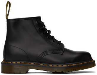Dr. Martens Black 101 Smooth Lace-Up Boots