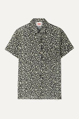 Solid & Striped Cabana Leopard-print Voile Shirt - Leopard print