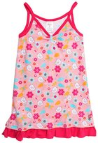Zutano Friendly Bird Ruffle Hem Dress (Toddler) - Pink-3T