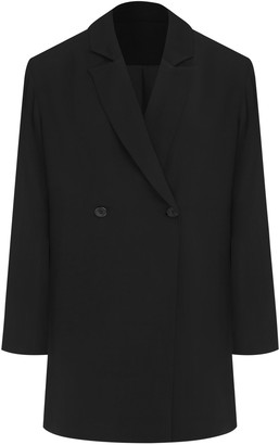 Harris Tapper Maya Suiting Twill Double-Breasted Blazer