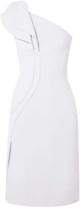 Antonio Berardi One-shoulder Ruffled Crepe Dress