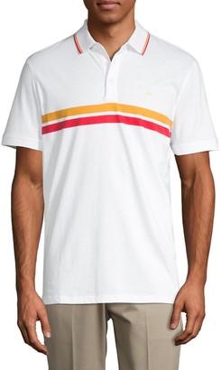 Calvin Klein Striped Cotton Polo