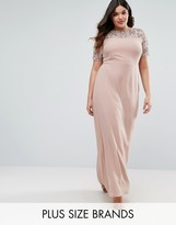 Lovedrobe Luxe Embellished Detail Maxi Dress With Chiffon Skirt
