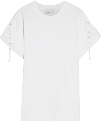 3.1 Phillip Lim Eyelet-embellished Cotton-jersey T-shirt