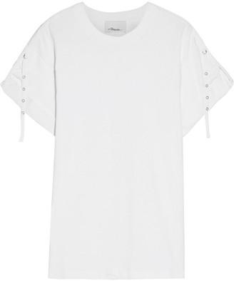 3.1 Phillip Lim Strap-detailed Cotton-jersey T-shirt