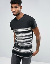 Religion Faded Stripe Print T-Shirt