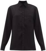 Maison Margiela Off-the-shoulder Crepe Shirt - Womens - Black