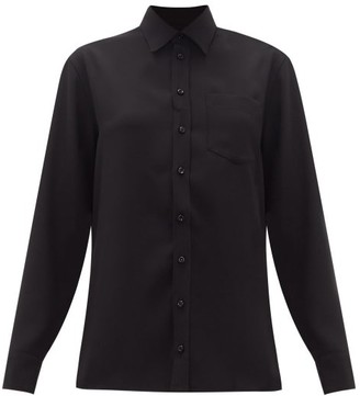 Maison Margiela Off-the-shoulder Crepe Shirt - Black