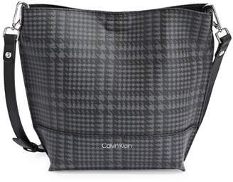 Calvin Klein Sonoma Houndstooth Bucket Bag Matching Pouch