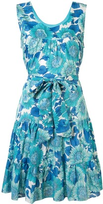 Bambah Floral Print Flared Dress