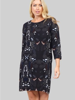 M&Co Izabel Curve abstract knitted dress
