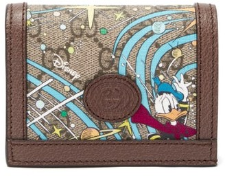 Gucci X Disney Donald Duck-print Canvas Wallet - Brown Multi