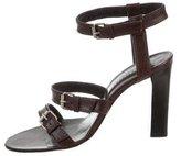 Christian Lacroix Leather Multistrap Sandals