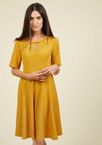 Appareline Inc Curated Cartographer Floral Dress in Goldenrod