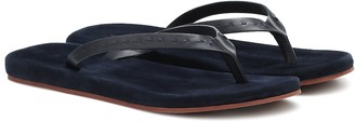 Loro Piana Suede thong sandals