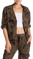Lucky Brand Floral Military Jacket