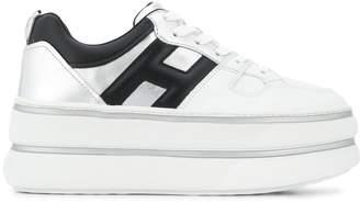 Hogan logo platform sneakers