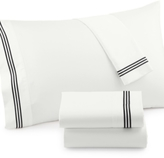 Westport CLOSEOUT! Merrow Line Embroidered Hem King 4-pc Sheet Set, 300 Thread Count 100% Cotton