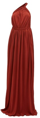 Matteau The One Shoulder Maxi Dress - Dark Red