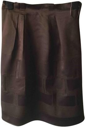 Philosophy di Alberta Ferretti Brown Silk Skirts