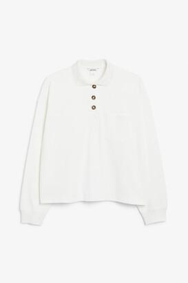 Monki Long-sleeve polo shirt