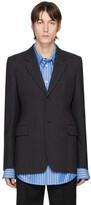 Balenciaga Grey Hourglass Single-Breasted Coat