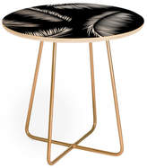 Deny Designs Kelly Haines Monochrome Palm Leaves Round Side Table