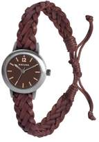 Kahuna Women's Quartz Watch with Brown Dial Analogue Display and Brown Leather Strap KLF-0021L