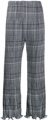 Givenchy Lettuce Hem Check Trousers