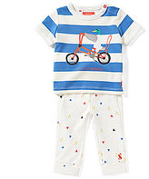Joules Baby Boys Newborn-12 Months Zach Striped Duck Top & Printed Pants Set