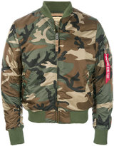 Alpha Industries camouflage bomber jacket