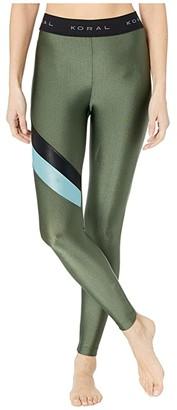 Koral Stage High-Rise Limitless Plus Leggings (Croco/Black/Jelo) Women's Casual Pants