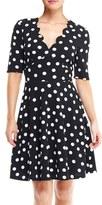 London Times Women's Polka Dot Dress