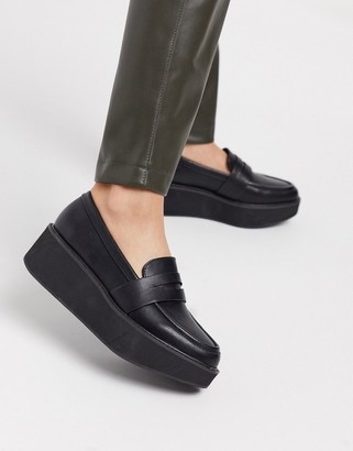 ASOS DESIGN Medic chunky loafer flatform shoes in black