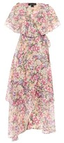Topshop Garden Floral Wrap Maxi Dress