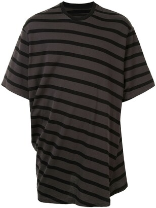 Julius oversized twist stripe T-shirt