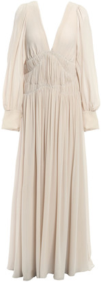 Stella McCartney Carleigh Shirred Silk-georgette Maxi Dress