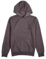 Burton Mens Charcoal Compass Chest Embroidered Over-Head Hoodie