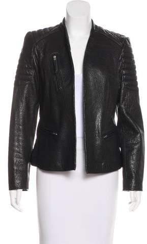AllSaints Open Front Leather Jacket