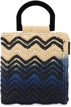 M Missoni Woven Style Colour Block Bag